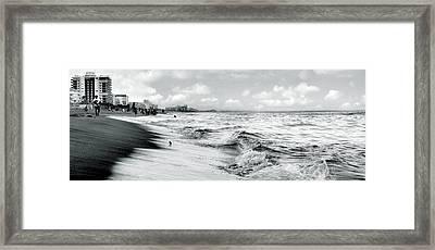 As The Tide Rolls In Framed Print by Cher Ferroggiaro
