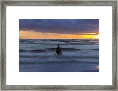 As The Tide Rolls In Framed Print by Paul Madden