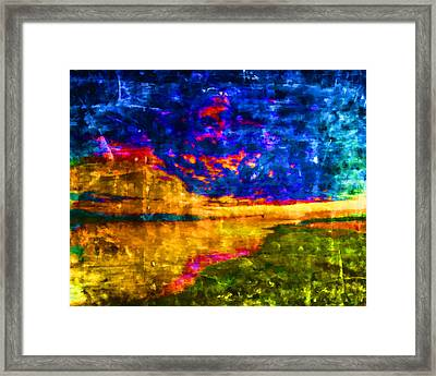 Framed Print featuring the painting As The World Ends by Joe Misrasi