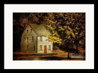Stone House Digital Art Framed Prints