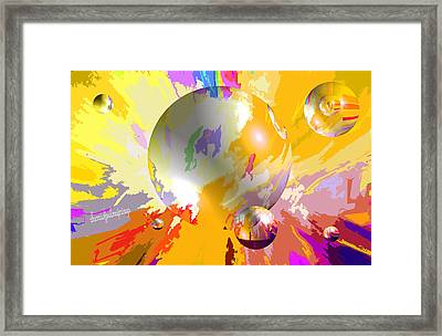 As The World Turns With Peace Framed Print