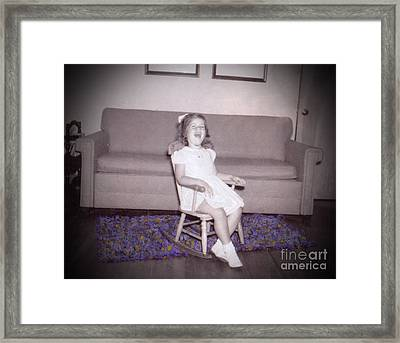 As This Little Child Framed Print by Deborah Montana