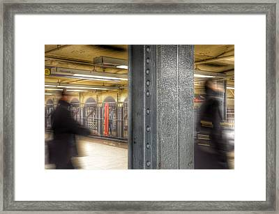 As Time Goes By - New York Metro Framed Print by Marianna Mills