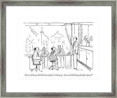 As We All Know Framed Print