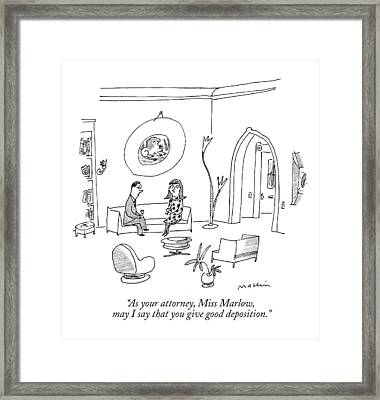 As Your Attorney Framed Print by Michael Maslin