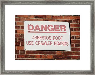 Asbestos Warning Sign Framed Print by Public Health England