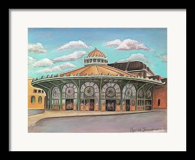 Merry Go Round Cookman Avenue Framed Prints