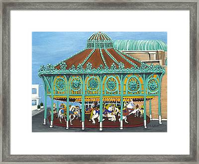 Asbury Park Carousel IIi Framed Print by Norma Tolliver