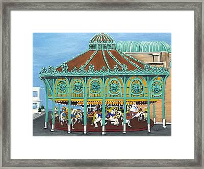 Asbury Park Carousel IIi Framed Print