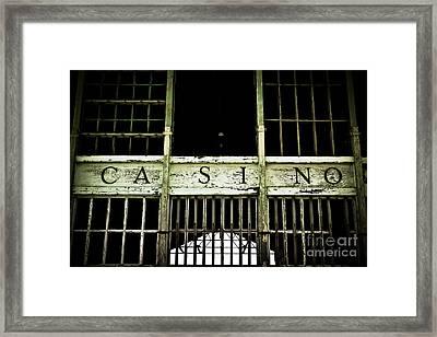 Asbury Park Casino Framed Print by Colleen Kammerer