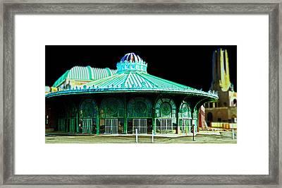 Asbury Park Dreamland Framed Print by  Tina McGinley
