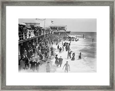 Asbury Park - New Jersey - 1908 Framed Print