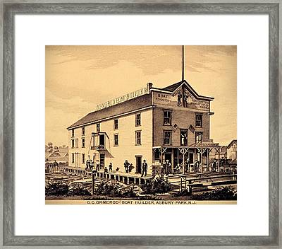 Asbury Park New Jersey Ormerod Boat Builder Framed Print by Movie Poster Prints