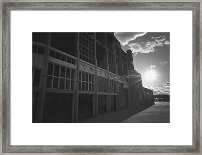 Asbury Park Nj Casino Black And White Framed Print