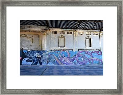 Asbury Park Nj Casino Mermaid Framed Print