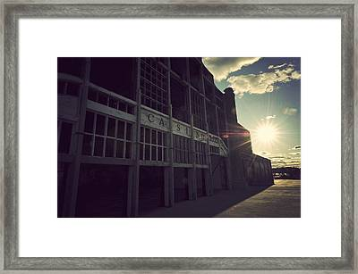 Asbury Park Nj Casino Vintage Framed Print by Terry DeLuco