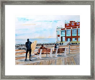 Asbury Park Surfers Framed Print by Brian Degnon