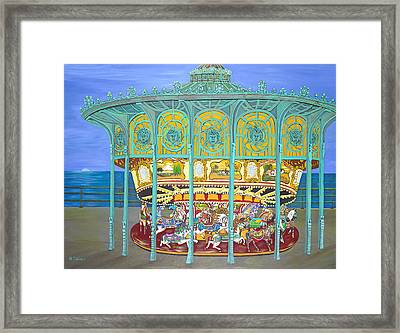 Asbury Park Yesteryear Framed Print by Norma Tolliver