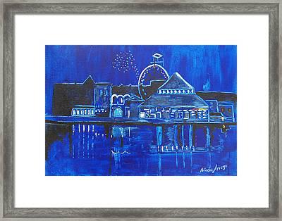 Asbury Park's Night Memories Framed Print by Patricia Arroyo