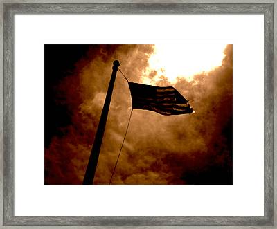Ascend From Darkness Framed Print