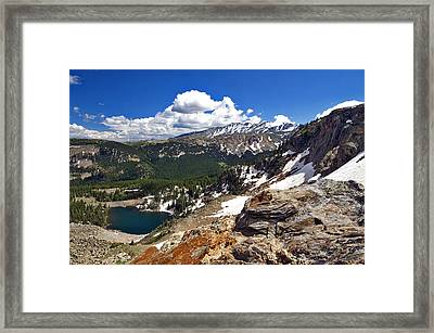 Ascend The Pass Framed Print