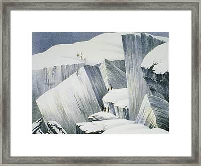 Ascending A Cliff, From A Narrative Framed Print
