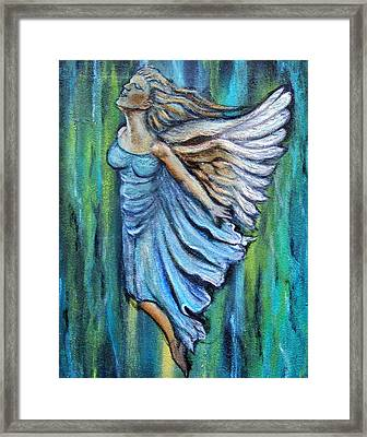 Ascending Angel Framed Print by The Art With A Heart By Charlotte Phillips