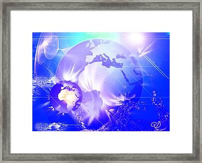 Ascending Gaia Framed Print by Ute Posegga-Rudel