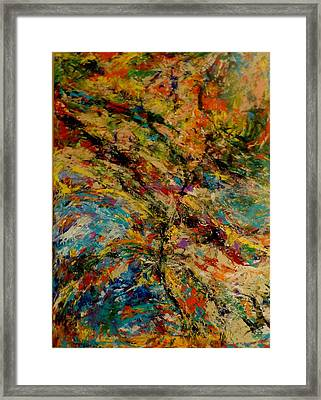 Ascension Abstraction Framed Print by Barb Greene mann