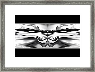 Framed Print featuring the digital art Ascension Angel Abstract by Denise Beverly
