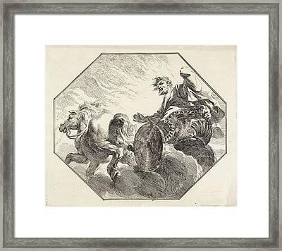 Ascension Of Elijah, Jacob De Wit Framed Print