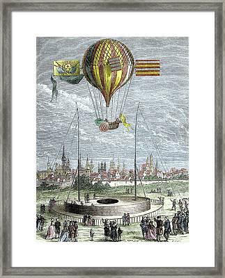 Ascent Of A Navigable Balloon Framed Print
