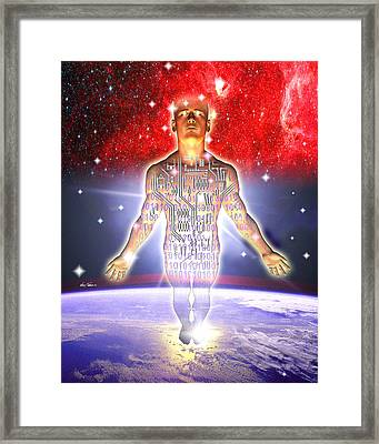 Ascent Of Man Framed Print by Nate Owens