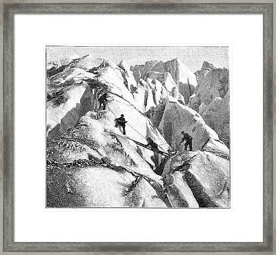Ascent Of Mont Blanc Framed Print by Science Photo Library