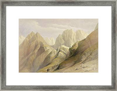 Ascent Of The Lower Range Of Sinai Framed Print by David Roberts