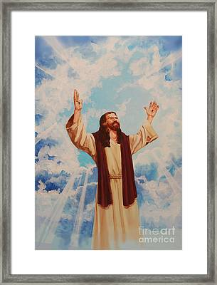 Ascention Of Jesus Framed Print