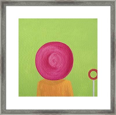 Ascot Hat Framed Print