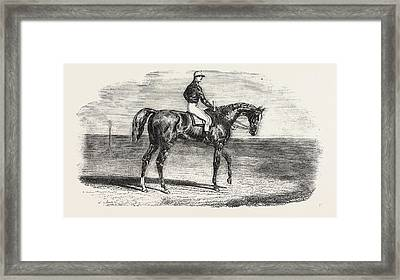 Ascot Races Woolwich, The Winner Of The Emperors Vase Framed Print