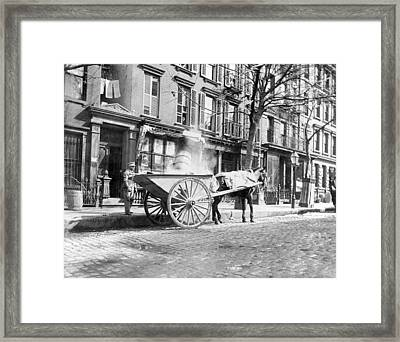Ash Cart New York City 1896 Framed Print by Unknown