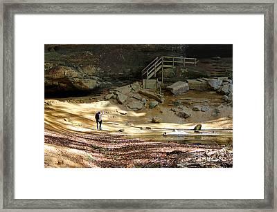 Ash Cave In Hocking Hills Framed Print