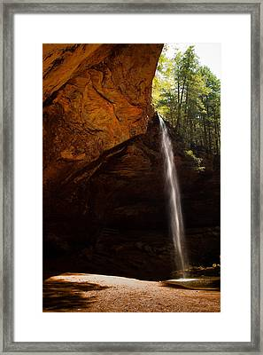 Framed Print featuring the photograph Ash Cave Rim by Haren Images- Kriss Haren