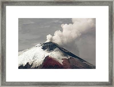Ash Plume Rising From Cotopaxi Volcano Framed Print