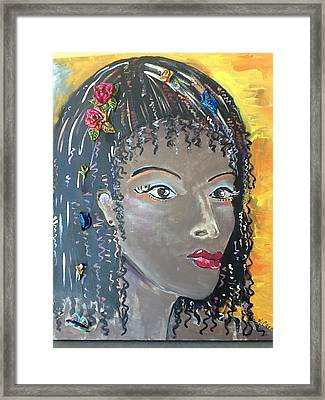 Ashanti Framed Print by Karen Carnow