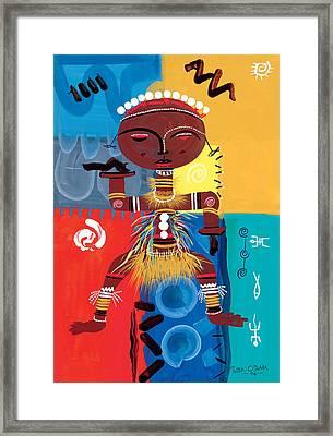 Ashanti Framed Print by Oglafa Ebitari Perrin