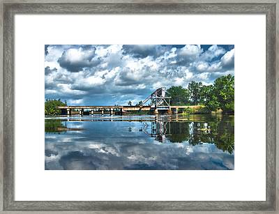 Ashepoo Train Trestle Framed Print