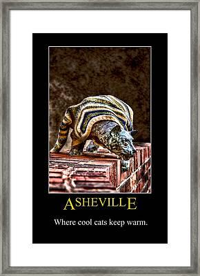 Asheville Cats Poster Framed Print by John Haldane