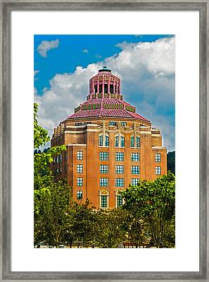 Asheville City Hall Framed Print by John Haldane
