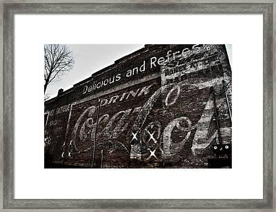 Asheville Coke Series 5 Framed Print by Brandon Addis