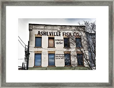 Asheville Fish Co Framed Print by Brandon Addis