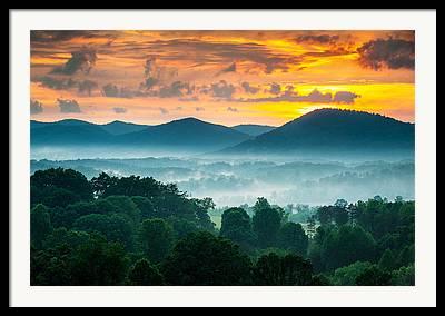 Pisgah National Forest Framed Prints
